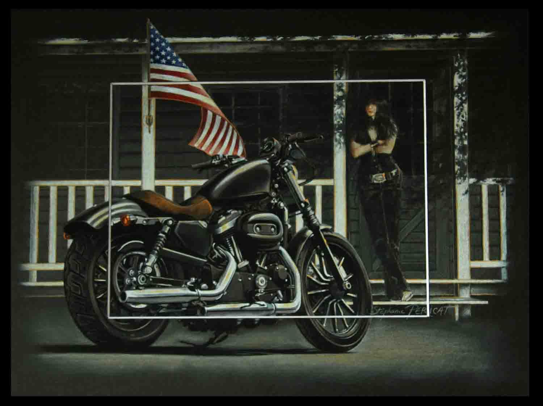 AN AMERICAN STORY - pastel sec (soft pastel) - 30x40cm - AV for sale
