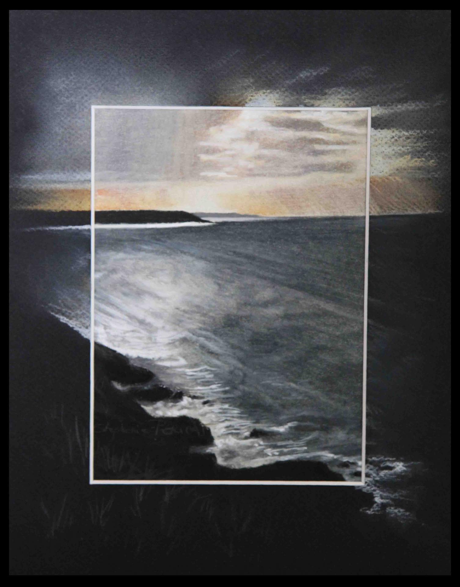 ANSE DE SCIOTOT - pastel sec (soft pastel) - 24x30cm