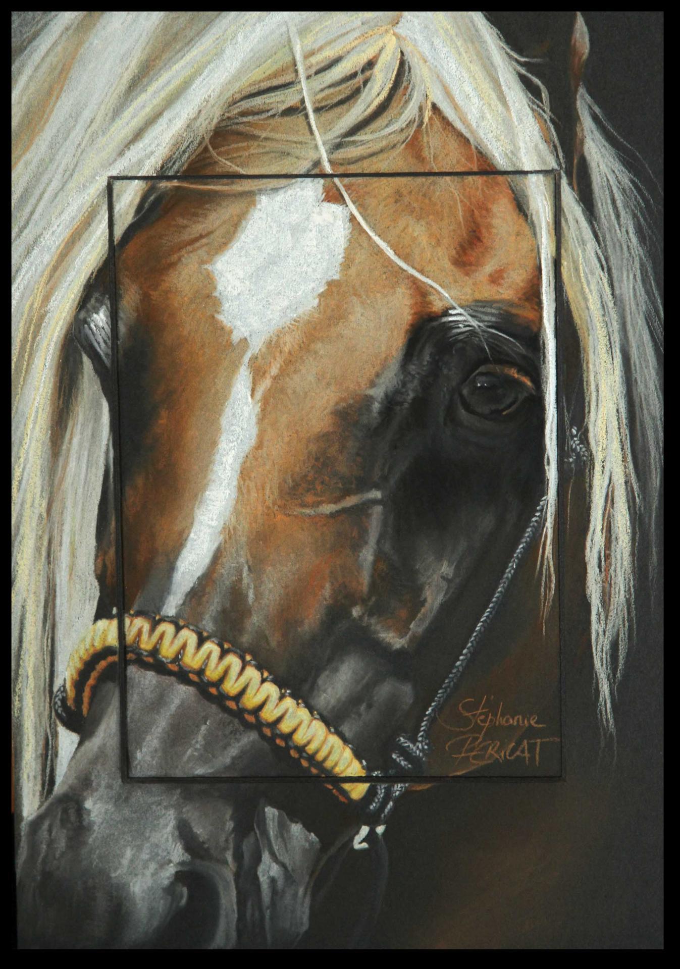Ayn KHAIRA REJ (eye of khaira rej) - pastel sec (soft pastel) - 20x30cm - AV for sale