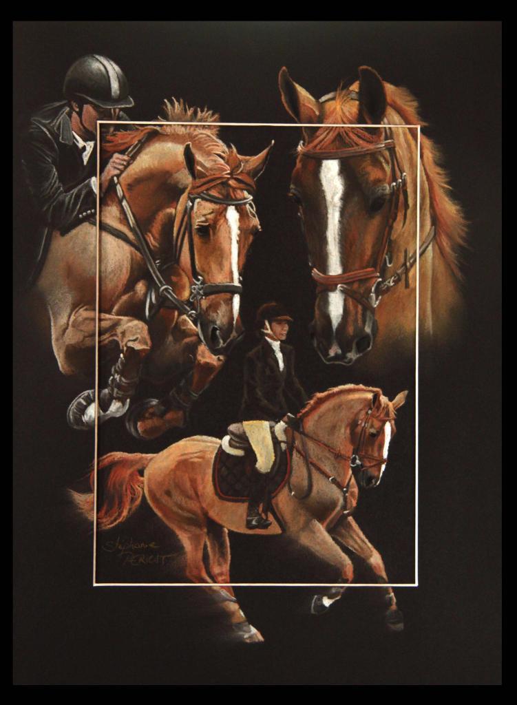 BALOUBET DU ROUET, ETALON (stallion) - pastel sec (soft pastel) - 30x40cm