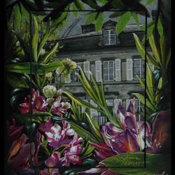 CHATEAU DE BEAULIEU, près de st Sauveur le Vicomte (castle of Beaulieu) - pastel sec (soft pastel) - 20x30cm