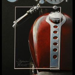 CLASSY RED - pastel sec (soft pastel) - 20x30cm - AV for sale