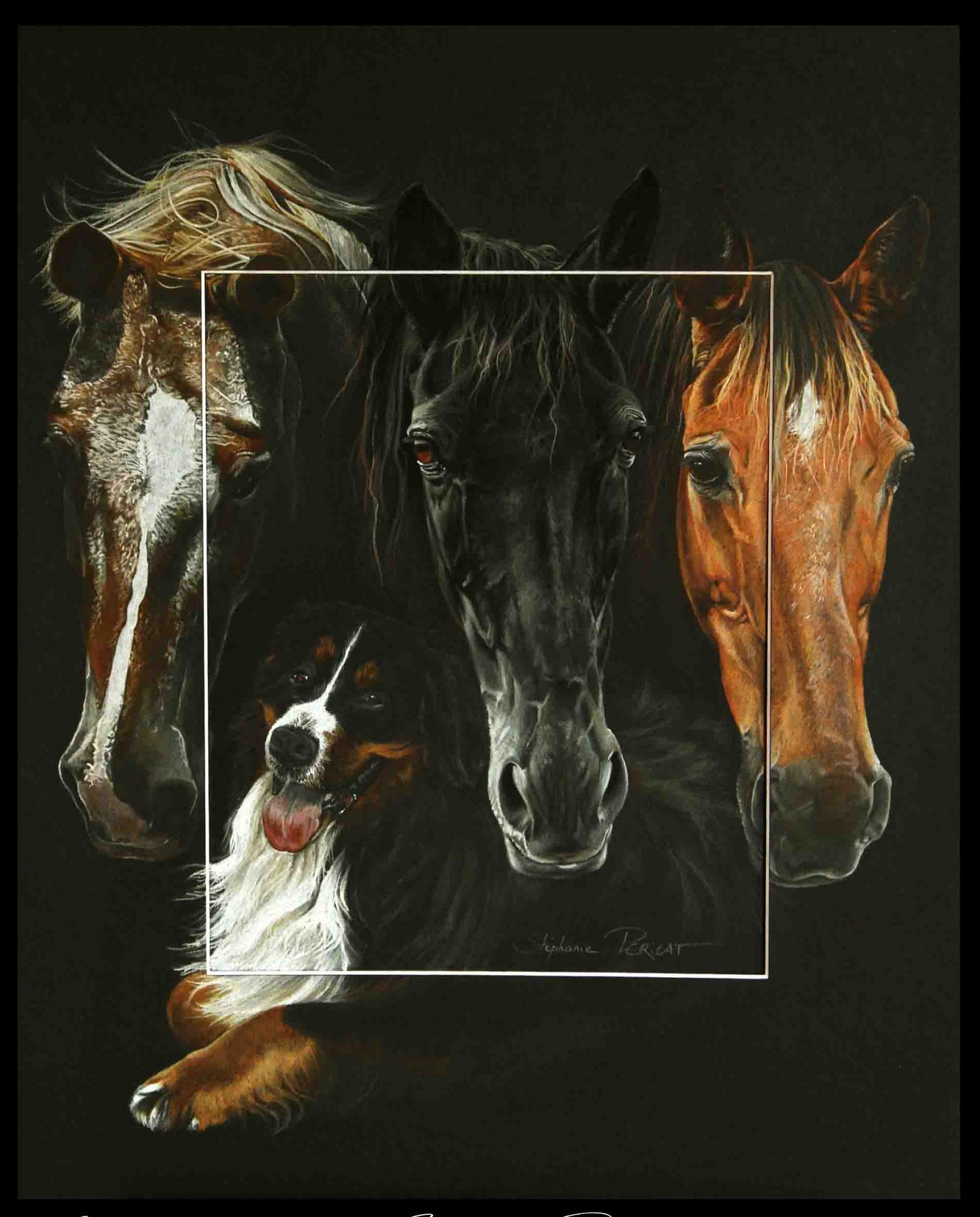 complices - pastel sec (soft pastel) - 40x50cm