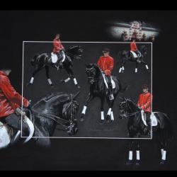 SILVER RAINBOW, ETALON NATIONAL (national stallion) - pastel sec (soft pastel) - 50x60cm