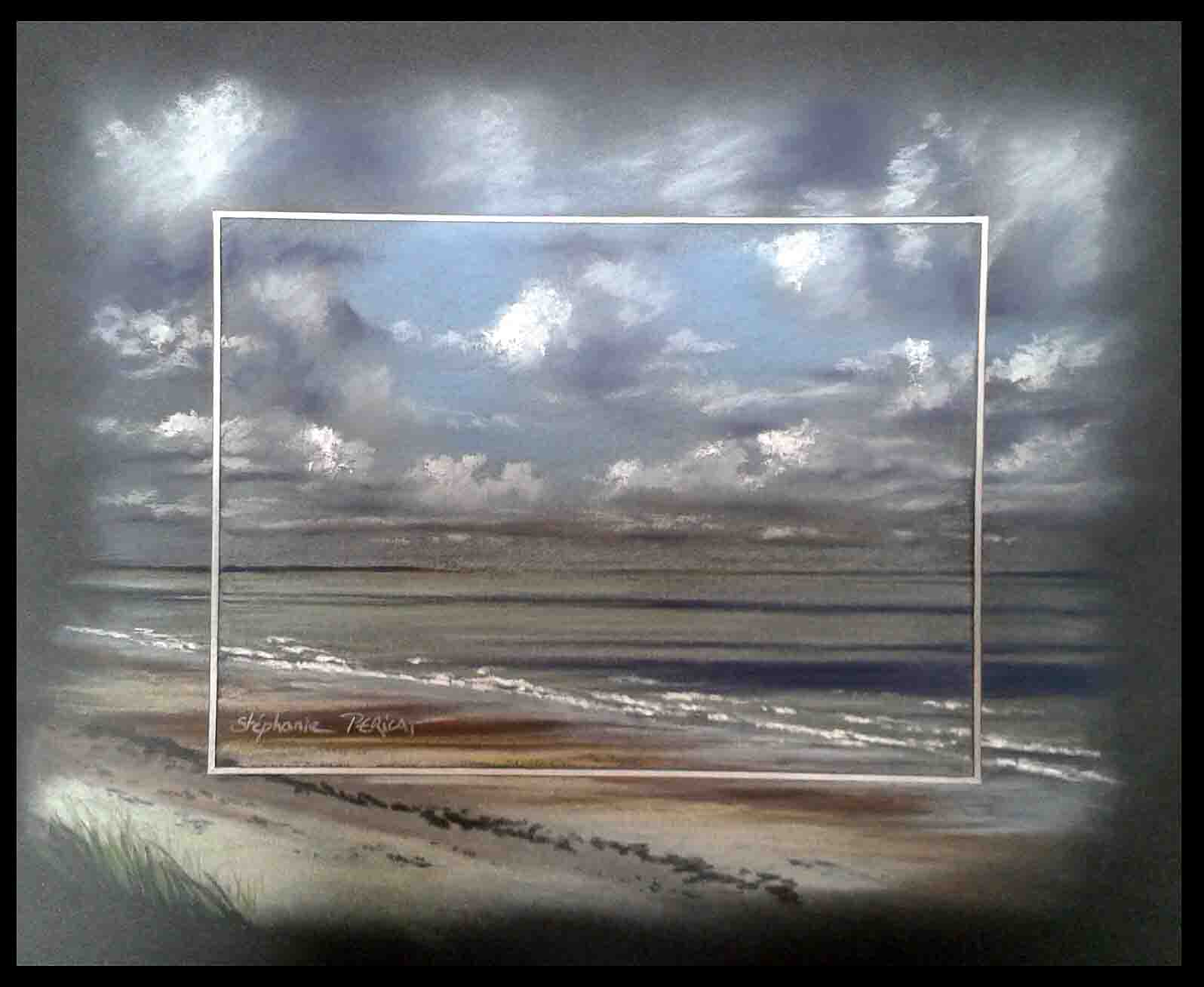 CREANCES PLAGE (creances beach) - pastel sec (soft pastel) - 24x30cm
