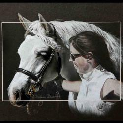 curragh court lady & johanna - pastel sec (soft pastel) - 30x40cm