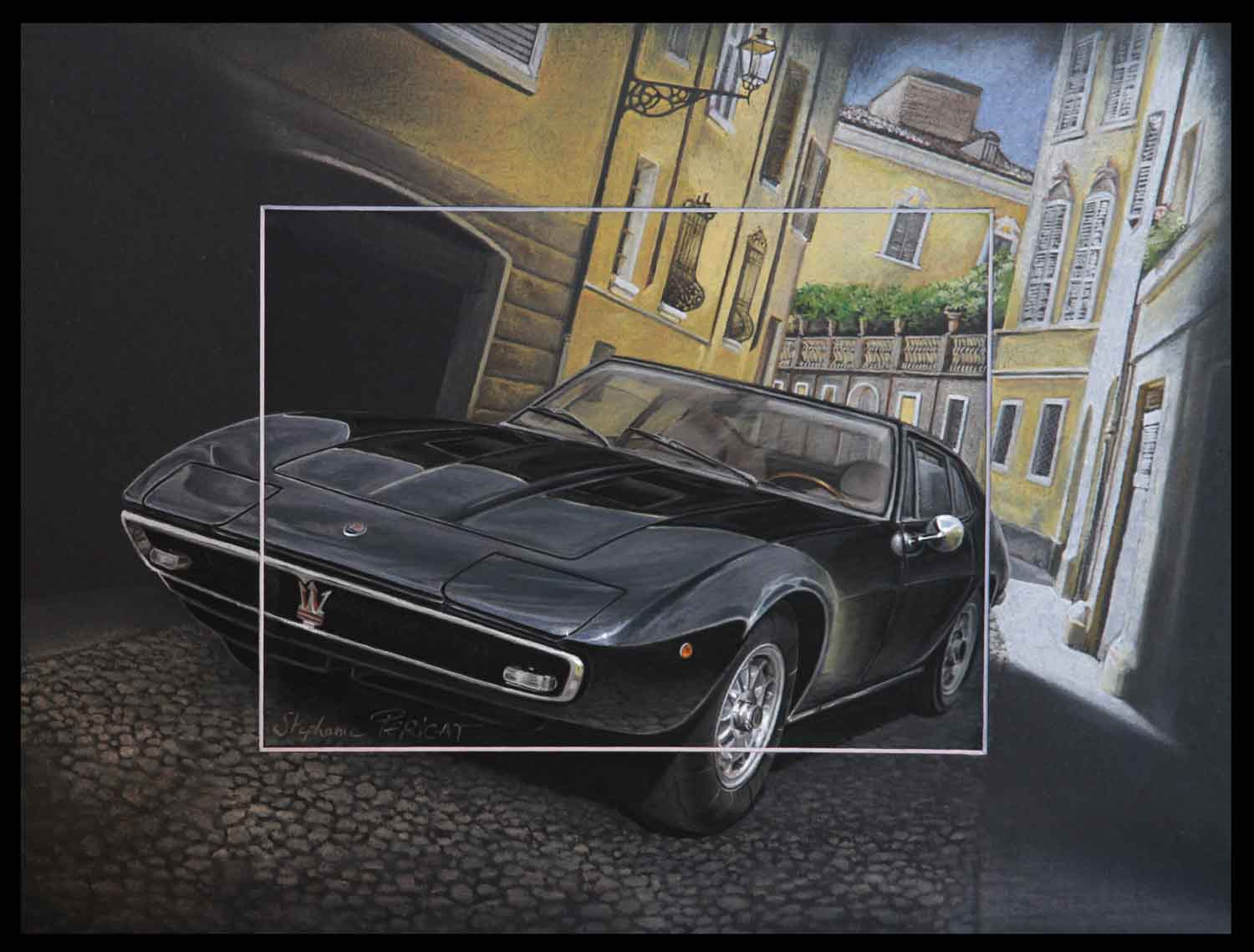 Estate Maserati Giblhi -  30x40cm - AV for sale