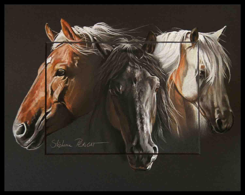 chevaux canadiens elevage sarabelle - 24x30cm