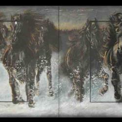 ETSINNKE ( deux mâles en iroquois) - pastel sec (soft pastel) - 2x 20x30cm - AV for sale