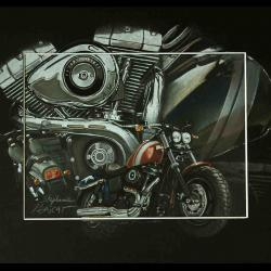 HARLEY DAVIDSON FAT BOB (2008-2015) - 24x30cm - AV for sale