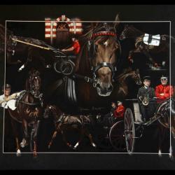 HIBISCUS DU RIB, ETALON NATIONAL (national stallion) - pastel sec (soft pastel) - 50x70cm