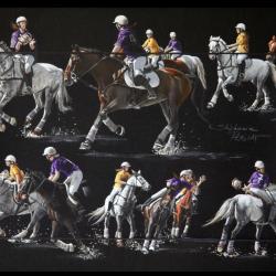 HORSE-BALL FEMININ 1 (feminale horse-ball team 1) -  30x40 cm