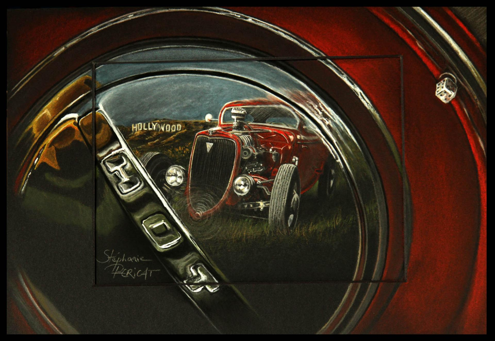 HOT WHEEL (origine du hot rod) - 20x30cm - AV for sale