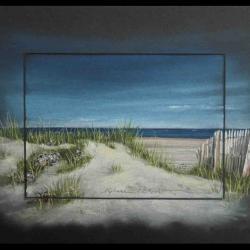 dunes bretteville sur ay - pastel sec (soft pastel) - 24x30cm