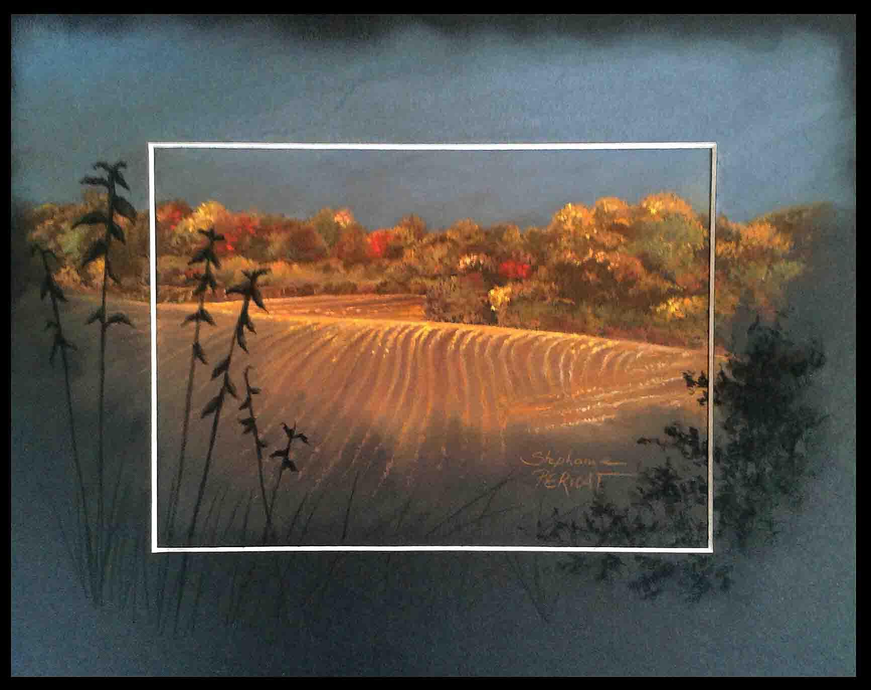 la valaiserie au matin (morning at la valaiserie) - pastel sec (soft pastel) - 24x30cm