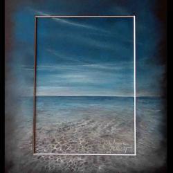 mer à bretteville sur ay - pastel sec (soft pastel) - 24x30cm