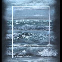 vague d'argent (silver wave) - pastel sec (soft pastel) - 24x30cm