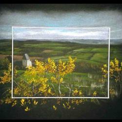 le mont doville - pastel sec (soft pastel) - 24x30cm