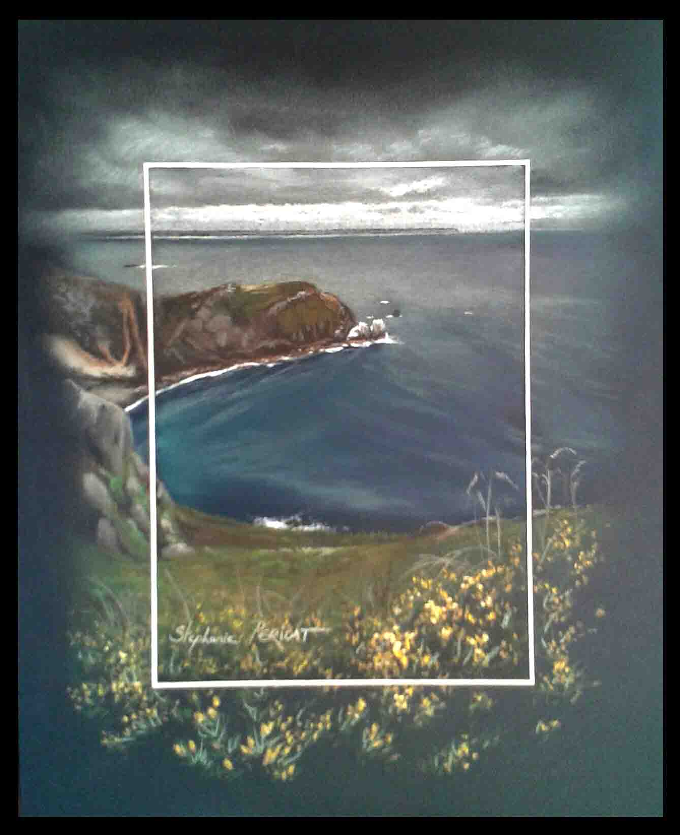 NEZ DE JOBOURG (pointe of jobourg) - pastel sec (soft pastel) - 24x30cm