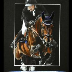 OLIDAY D'IRA, MALE AU CSO (male jumps) - 24x30cm