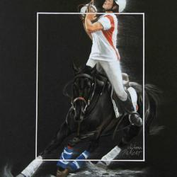 HORSE-BALL TIR FRANCAIS (french shoot) - 24x30cm