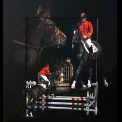 RODEO DE TEXO, ETALON ANGLO-ARABE (anglo-arabian stallion) - pastel sec (soft pastel) - 40x50cm