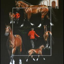 SYRIAC, ETALON (stallion) - pastel sec (soft pastel) - 30x40cm