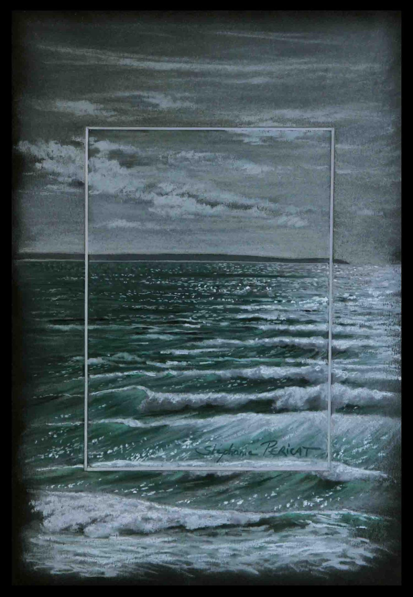vagues de lumières (waves of light) - pastel sec (soft pastel) - 20x30cm - AV for sale