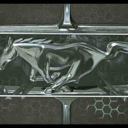 WILD PONIES CAR -  20x60cm - AV for sale